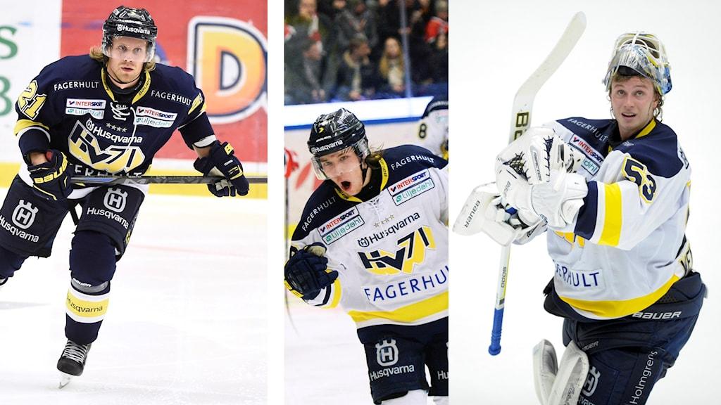 Frerik Petterson Wentzel, Mattias Tedenby och Filip Sandberg.