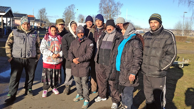 EU-migranter på Rosenlunds camping.