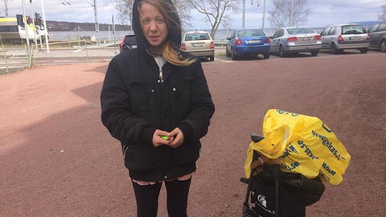 Susanna Karlsson som besöker boendet ibland.