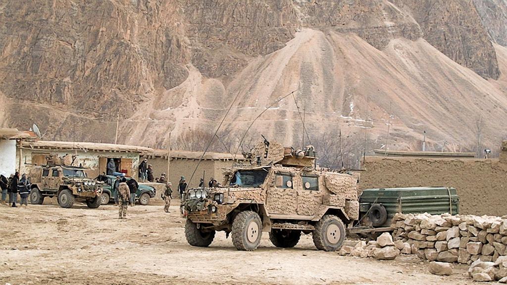 Svenska trupper i Afghanistan.