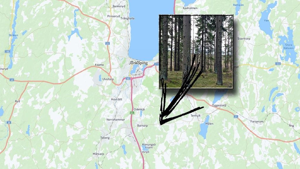Tänkt plats för ett nytt Jönköping.