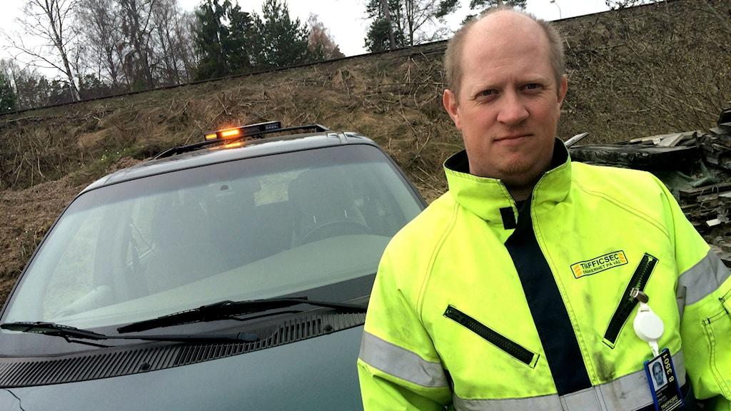 Vägängeln Johan Klasson. Foto: Peter Jernberg/ Sveriges Radio
