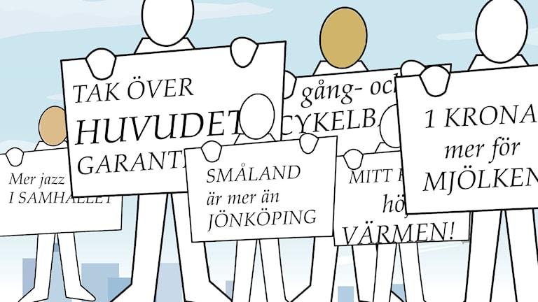 Lyssnarnas plakat 1 maj.