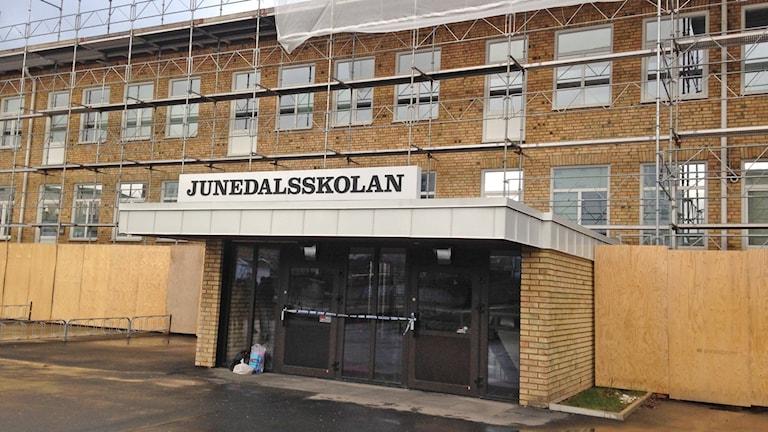 Inbrott, Junedalsskolan.