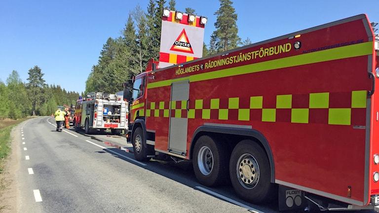 Räddningstjänst Skogsbrand Flisby/Solberga.
