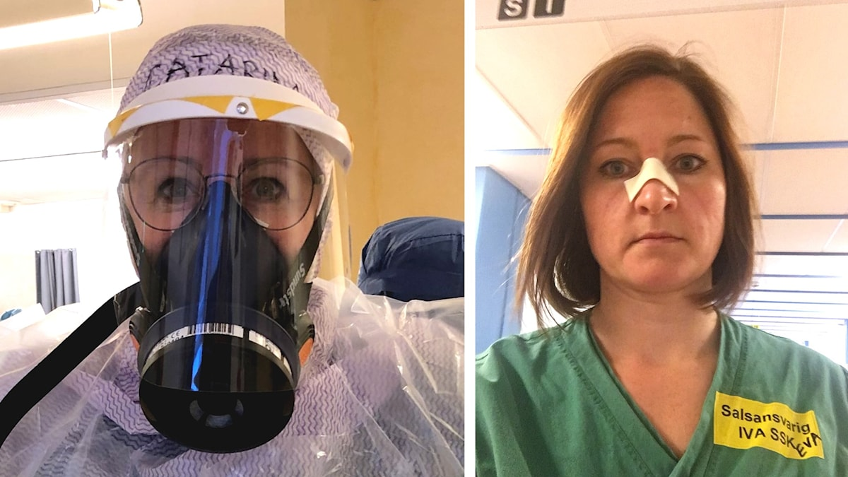 Kollage med två sjuksköterskor från IVA i Jönköping.