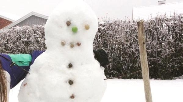 Lisa Andersson Huskvarna snögubbe