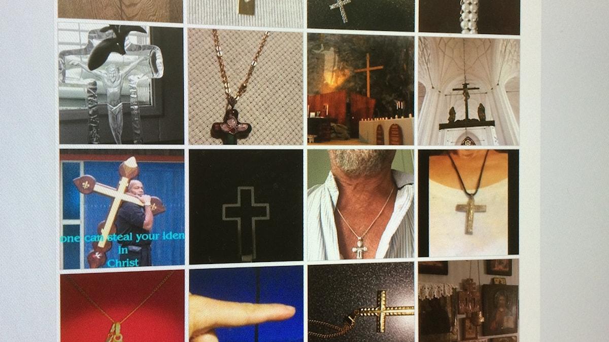 Bilder på kors.