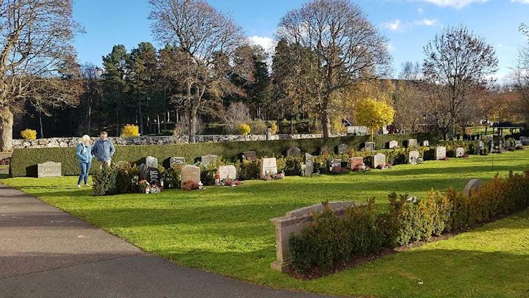 Bild från kyrkogården i Bankeryd.