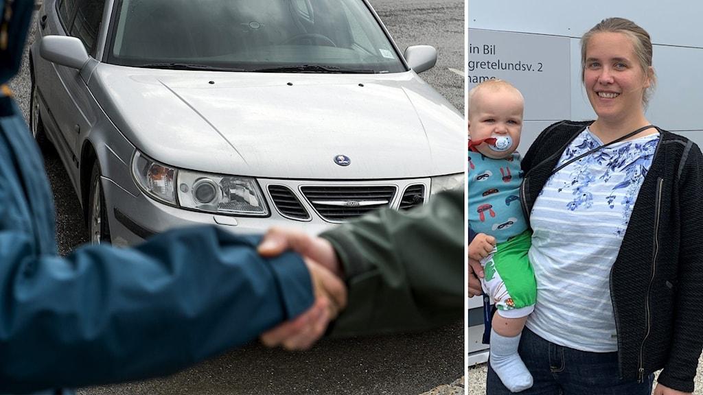 Karin Hörsell, nybliven bilägare av en begagnad bil.