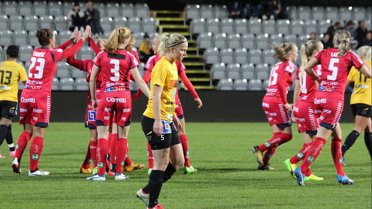 Emma Bergman och Mariebo fick se sig besegrade av Linköping.