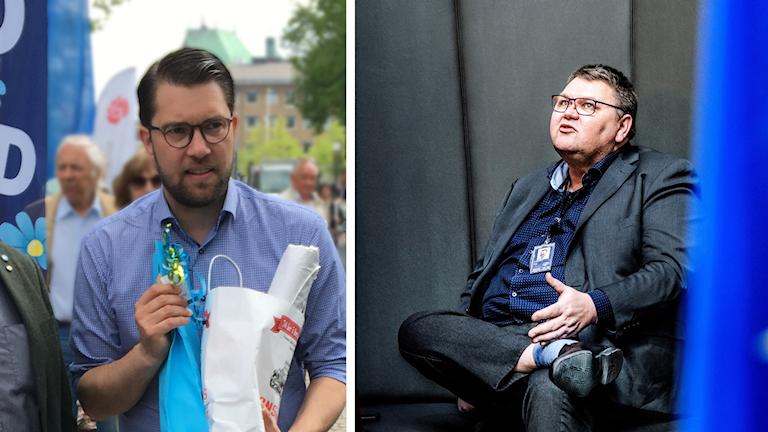 Jimmie Åkesson och Peter Lundgren från Sverigedemokraterna.