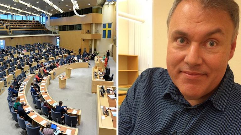 Riksdagen och Anders Rickman länsordförande för Liberalerna.