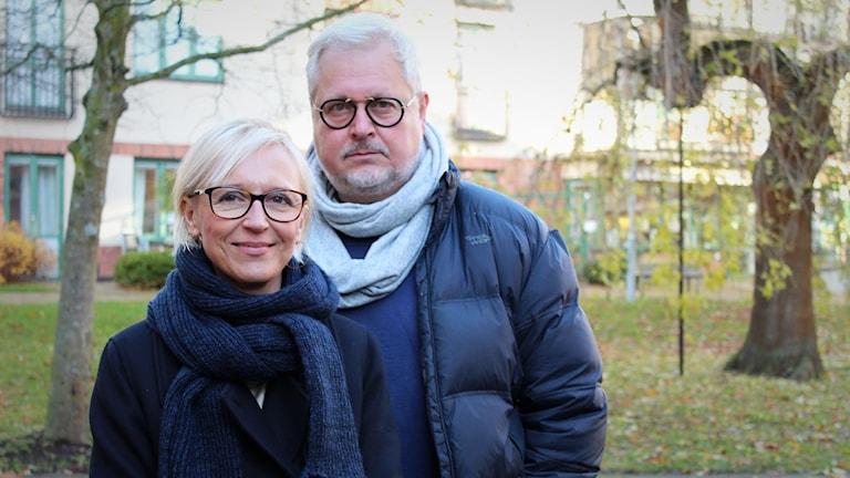 Mia Ringblom Gertner och Staffan Aspegren.