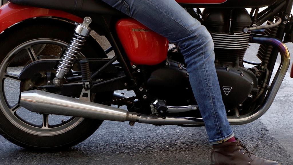 En motorcykel. Foto: Hasse Holmberg/TT.