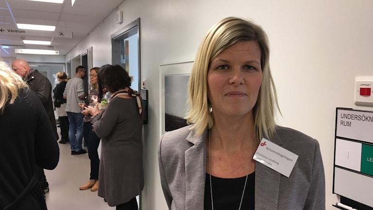 Christine Lindberg, kontaktsjuksköterska på bröstmottagningen.