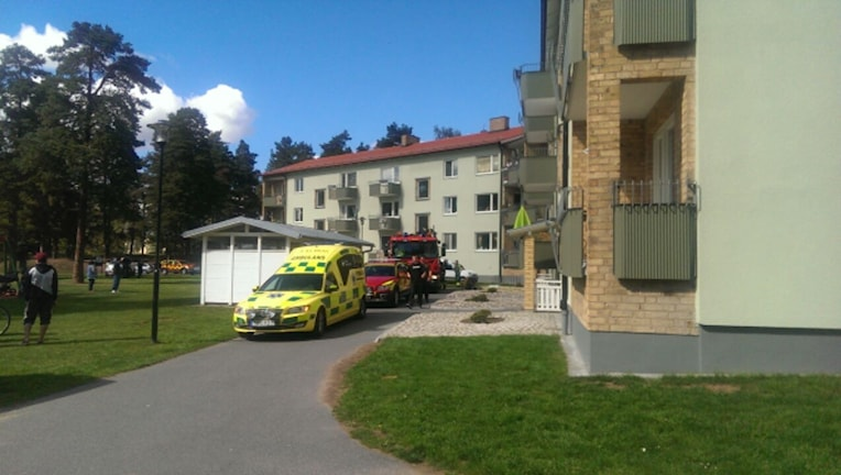 Branden Eksjö Oxtorgsgatan Byggnad