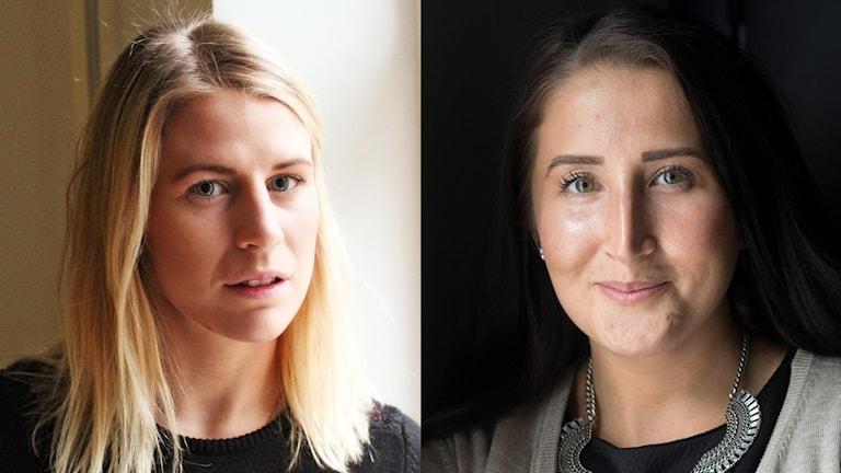 Jenni Asserholt och Fanny Rask. Foto: David Westh/Sveriges Radio.