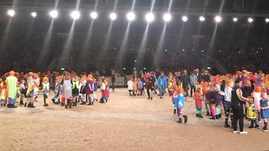 Massa personer som är utklädda till Pippi Långstrump.