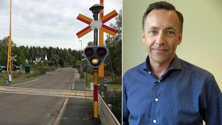 Järnvägsbommar och Richard Wahlstedt.