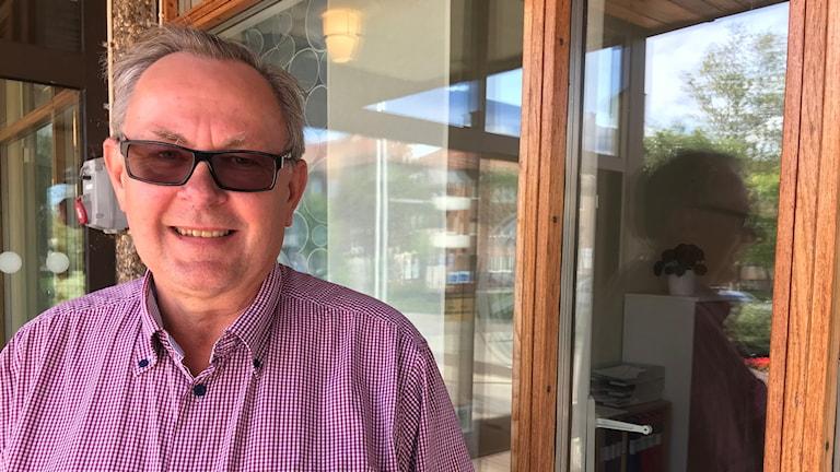 Gert Jonsson (M), kommunstyrelseordförande i Vaggeryd. Foto: Oskar Mattisson/Sveriges Radio..