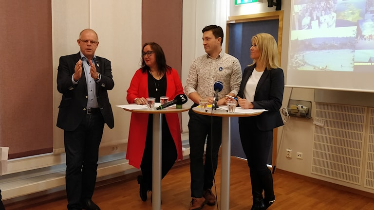 Rune Backlund, Mia Frisk, Jimmy Ekström och Malin Wengholm.