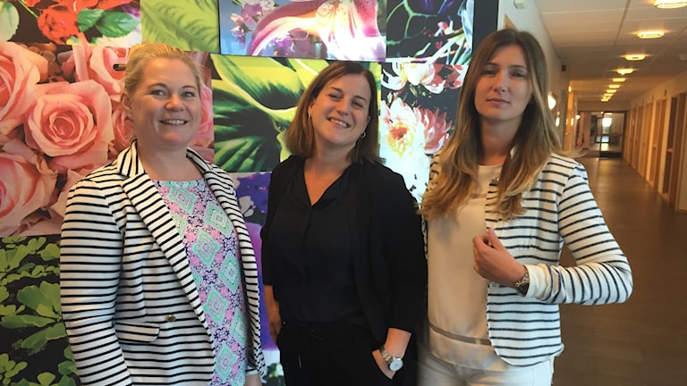 Johanna Arvidsson, Hillevi Moberg och Dzenana Abdurahmanovic är glada över nyheten.