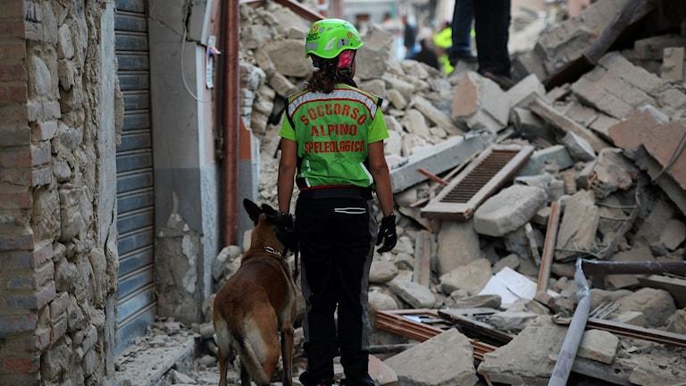 Jordbävning Italien.