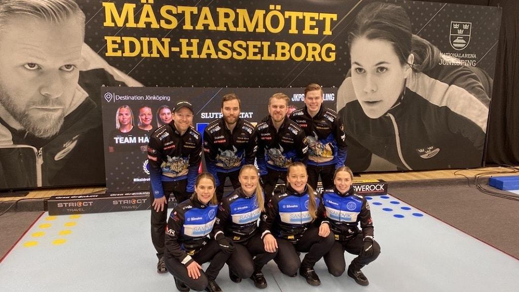 Lag Edin och Lag Hasselborg. Foto: Mats Fagerström/Sveriges Radio