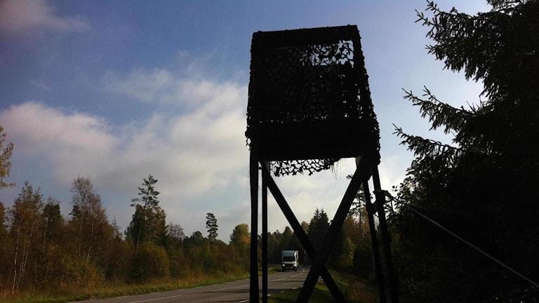 Jakttorn. Foto: Tomas Lindberg/Sveriges Radio
