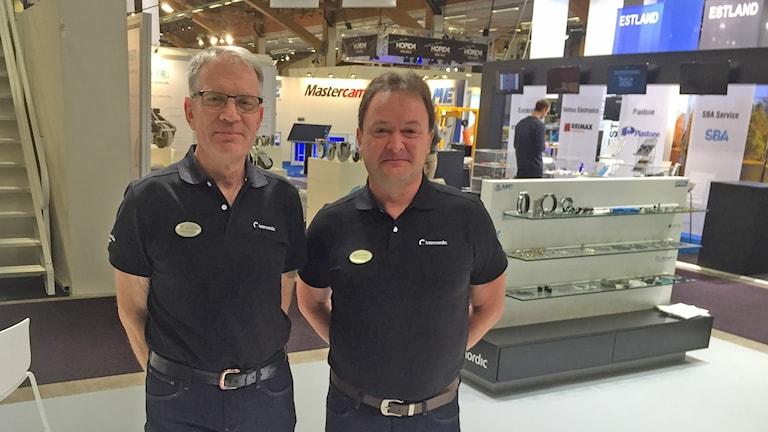 Torbjörn Jonestad och Mikael Ekedahl från Nässjöföretaget Internordic