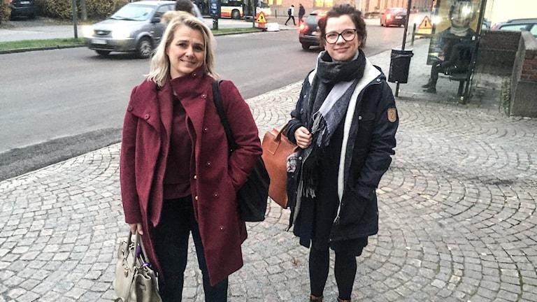 Anneli Wirtén och Hanna Ekner från länsstyrelsen