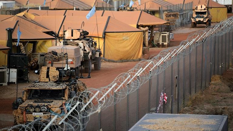 Den svenska FN-förläggningen Camp Nobel i Mali. Arkivbild: Henrik Montgomery/TT