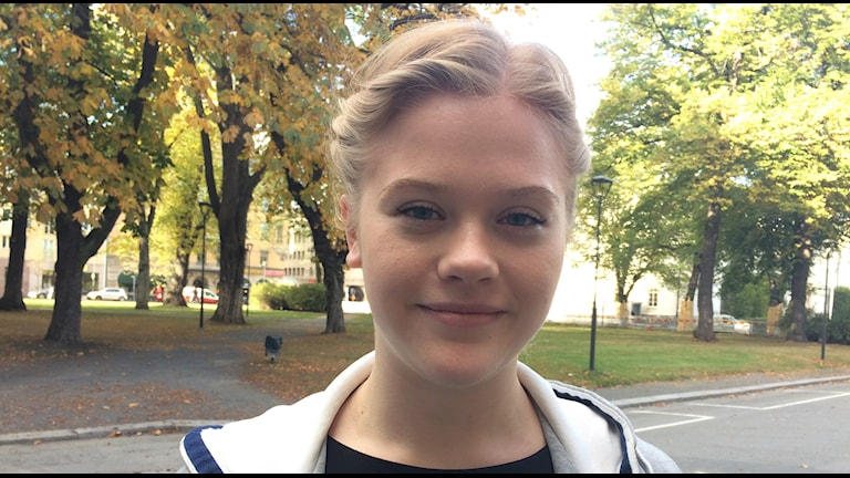 Linnéa Samuelsson, elev på IB-programmet på Per Brahegymnasiet.
