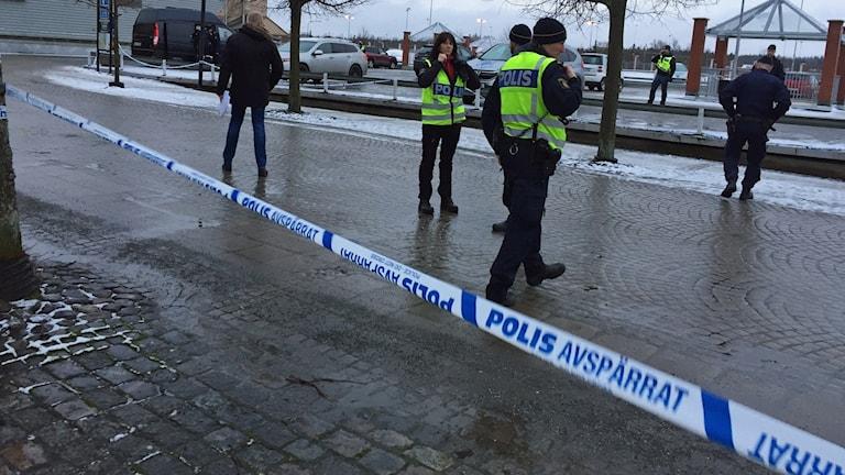 Avspärrning Nässjö.