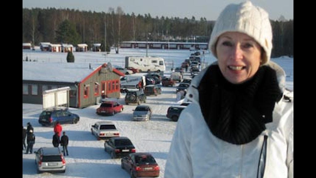 Carola Öberg, Anderstorp Samhällsförening. Foto: Håkan Montelius/SR