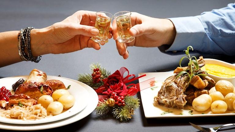 Julmat och snaps.
