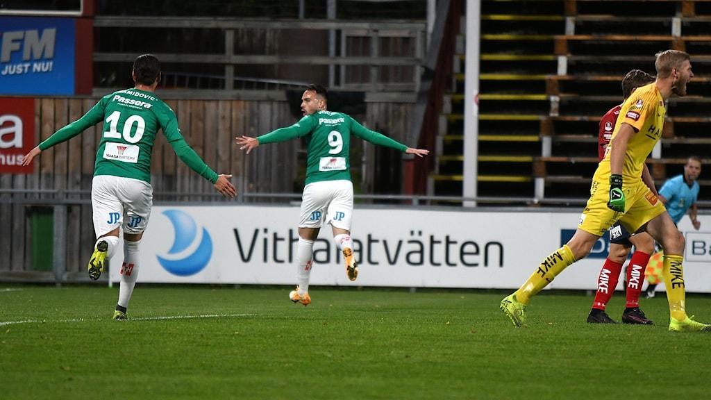 Dzenis Kozica i målform för J-Södra.