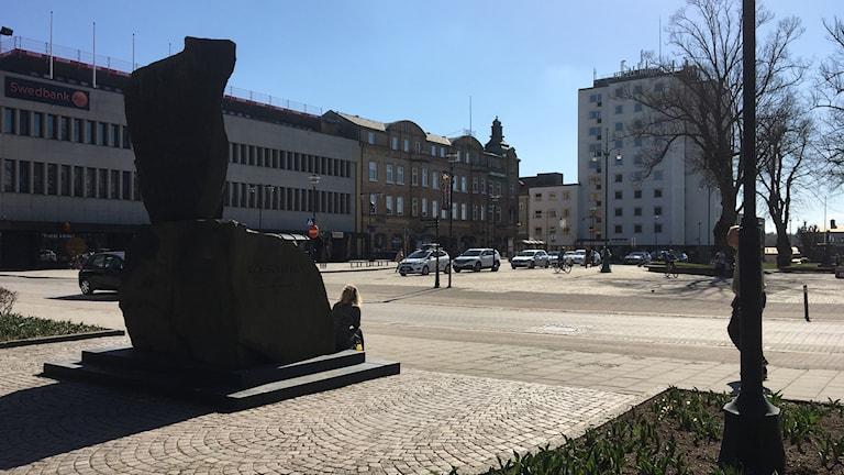 En staty i Nässjö.