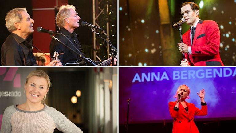 Adolphson & Falk, Peter Johansson, Elisa Lindström och Anna Bergendahl.