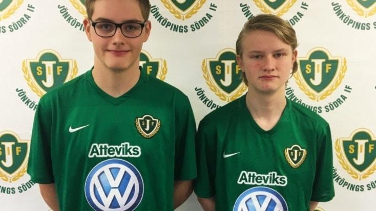 Joel Hildingsson och Hugo Wadell. Foto: Jönköpings Södra.