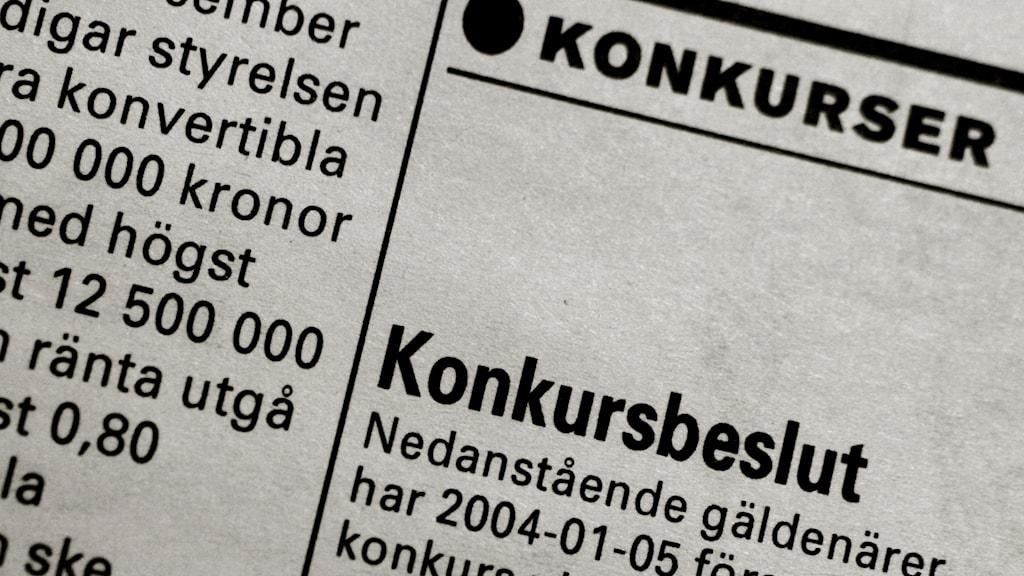 Jönköping hårt drabbat av konkurser