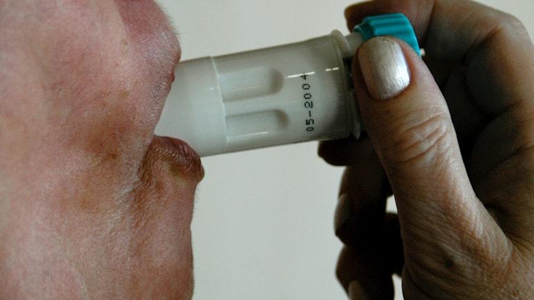 Bild på inhalator