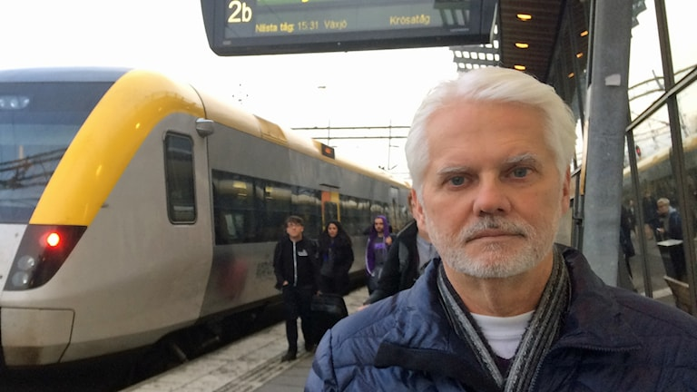 Thomas Adelöf som är trafikplanerare på Jönköpings länstrafik.