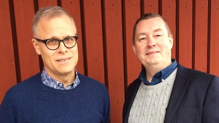 E-handelsexpert Urban Lindstedt (till vänster) och företagare Tommy Hultquist, Anderstorp.