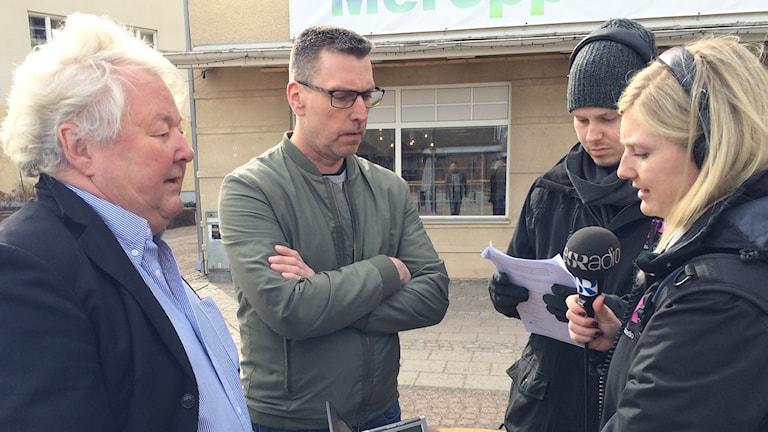 Thomas Werthén, Nicklas Gustavsson, Simon Isaksson och Therese Edin.