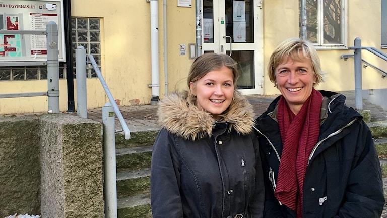 Clara Rudblom och Lena Rudblom besökte Per Brahegymnasiets öppna hus.