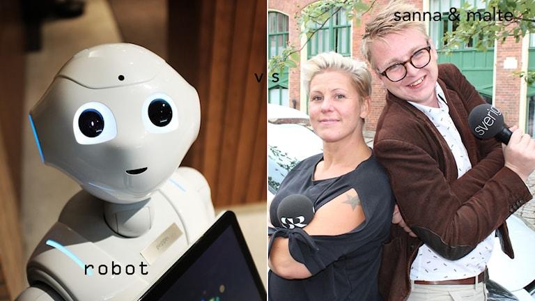 Robot samt Sanna & Malte.