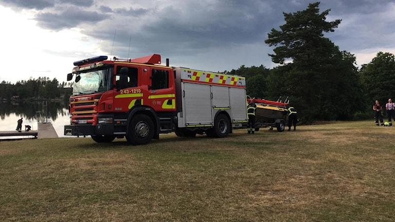 Räddningstjänst vid Åsasjön i Jönköping