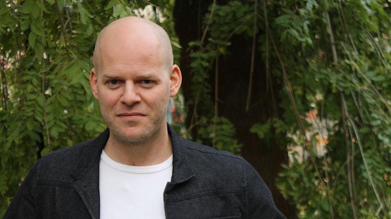 Fiskerikonsulenten Adam Johansson på Länsstyrelsen i Jönköping.